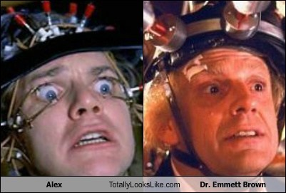 dr-emmett-brown,alex,totally looks like,funny
