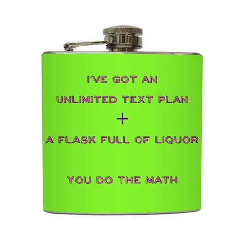 drunk flask texting funny - 7790832896