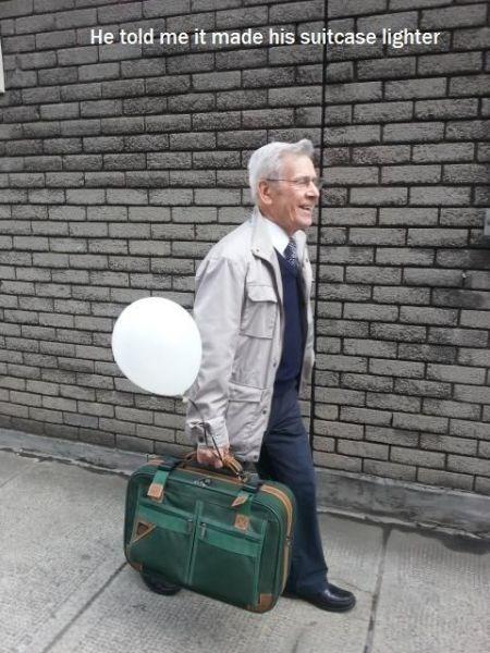 ur a genius,Balloons,suitcases,logic