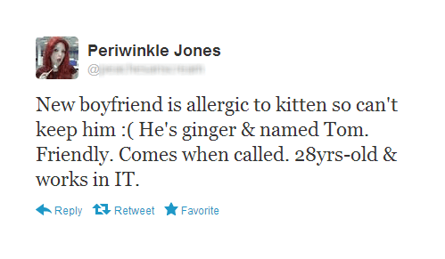 ginger,periwinkle jones,allergies,boyfriends,Cats,failbook,g rated