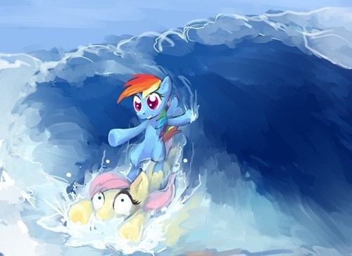 Fluttershy used Surf!