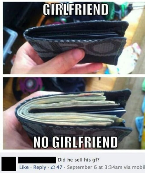 girlfriend facebook wallet funny