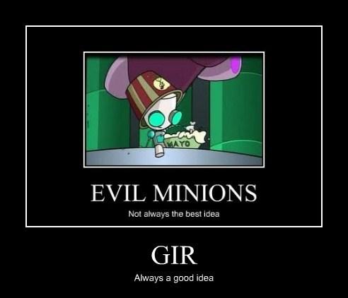 GIR minion Invader Zim funny - 7791175680