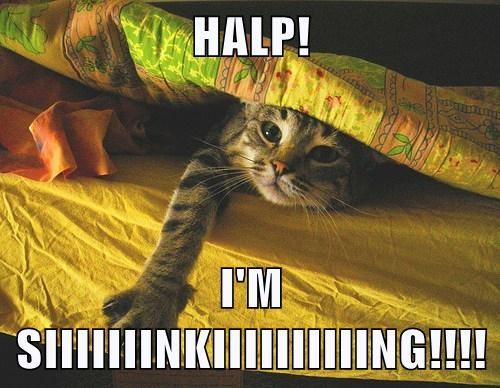 HALP!  I'M SIIIIIIINKIIIIIIIIIING!!!!