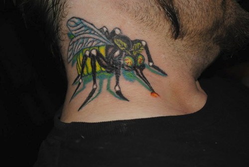 mosquitos,neck tats,tattoos,funny
