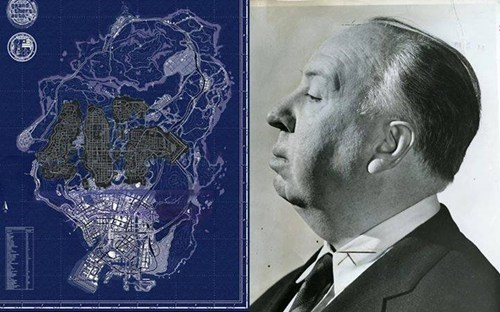 alfred hitchcock totally looks like gta 5 funny Maps