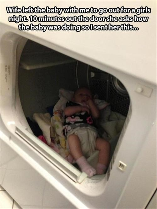 Babies,dryer,parenting