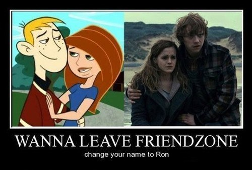 Harry Potter,Kim Possible,ron,friend zone