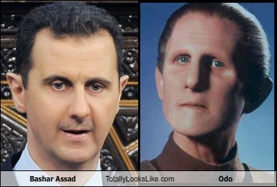 bashar assad odo totally looks like Star Trek funny