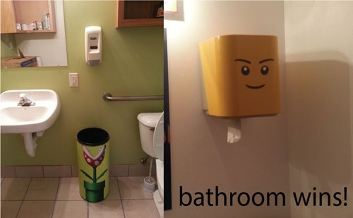 bathrooms,lego,kids,parenting,Piranha Plant,Super Mario bros
