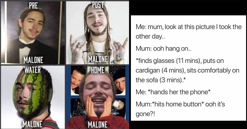 funny memes, post malone