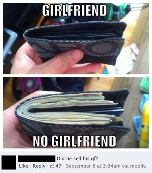 forever alone,broke,girlfriend,wallets,money,no girlfriend,failbook
