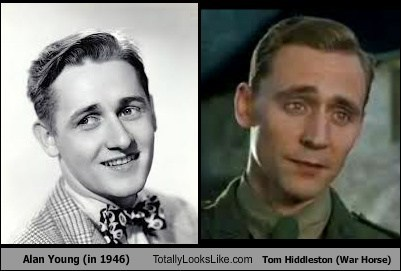 Alan Young (in 1946) Totally Looks Like Tom Hiddleston (War Horse)