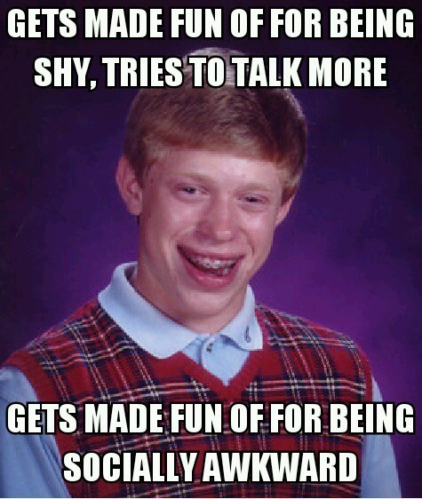 bad luck brian,Memes,socially awkward