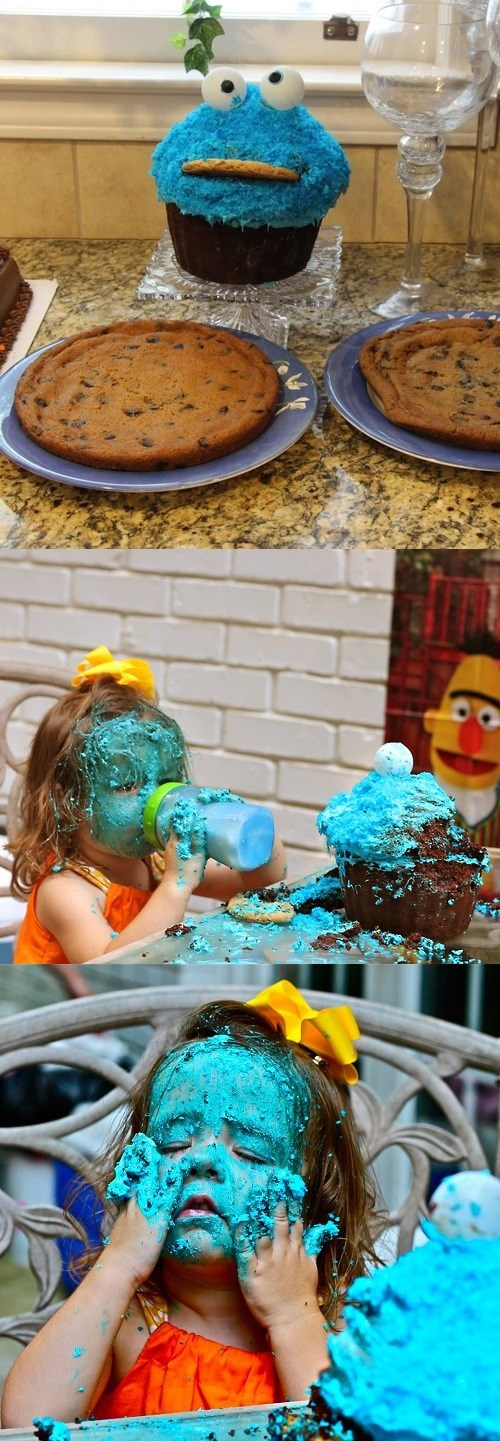 Cookie Monster kids freaky food - 7793621248