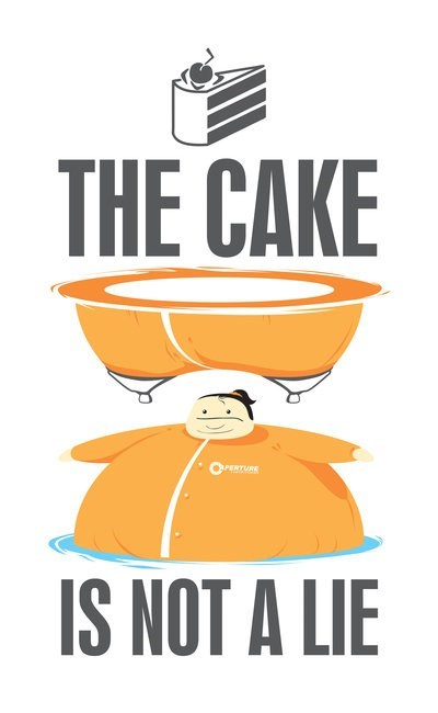 the cake is a lie,valve,Portal