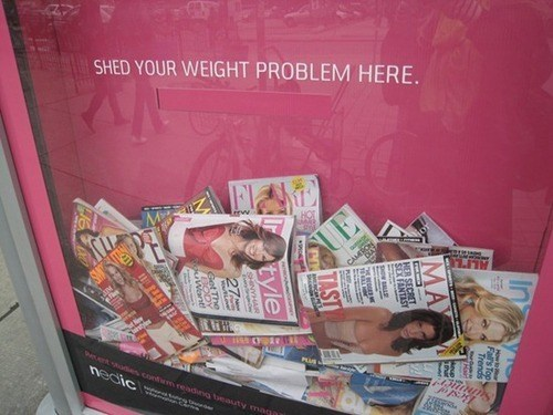 magazines,weight problems