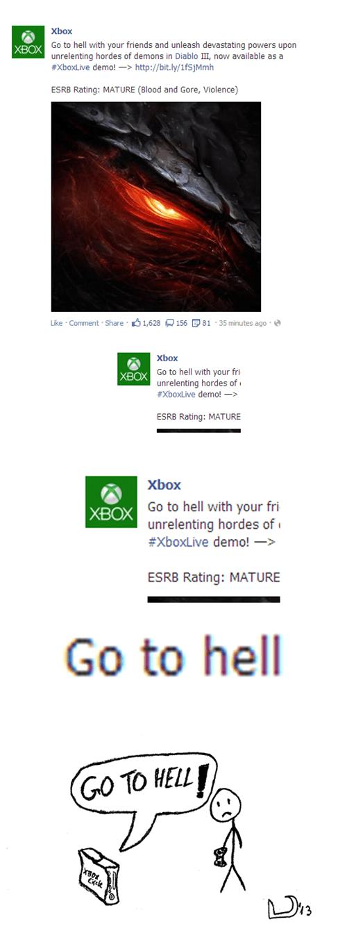 diablo,facebook,xbox