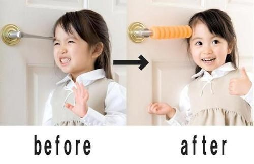 parenting,safety,childproofing,funny,doorknob