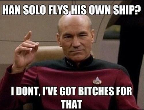 picard TNG Star Trek Han Solo - 7795505152