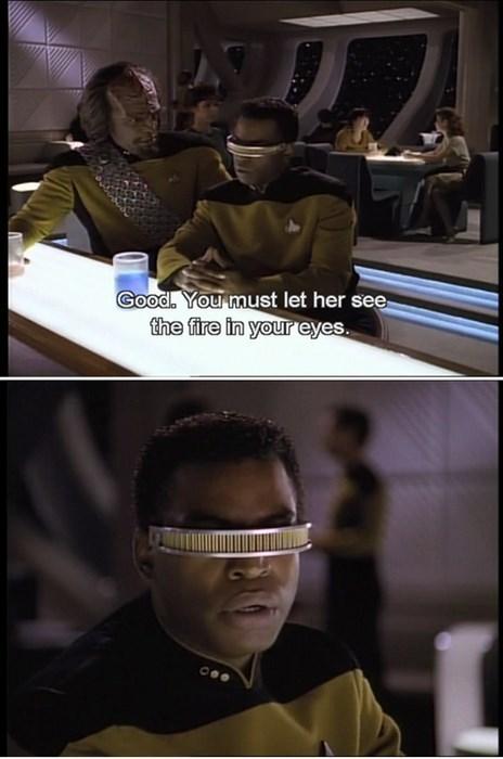 TNG visor Worf Star Trek Geordi Laforge - 7795516928