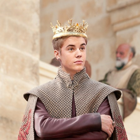 justin beiber Game of Thrones jofrey baratheon