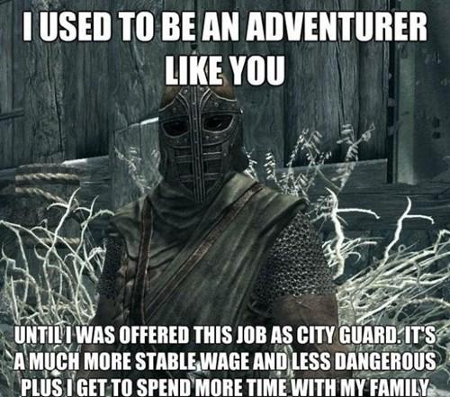 I used to be an adventurer like you skyim - 7795670528