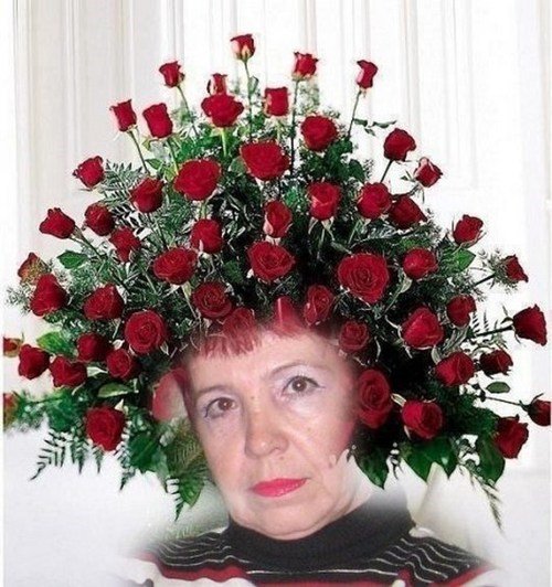 wtf grandma photoshop flowers funny - 7795811584