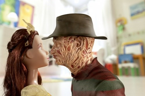 wtf,freddy krueger,kisses,nightmare on elmstreet,funny,princesses