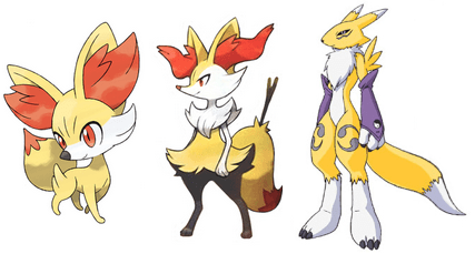 fennekin,evolution,digimon,digifriday,renamon,fennekin is the champion