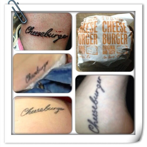 cheezburger tattoos love cheeseburgers funny - 7795907840
