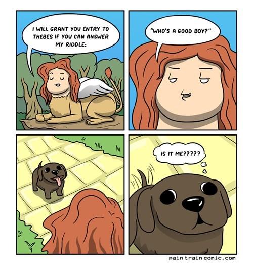 dogs comics funny sphynx riddles web comics - 7795915520