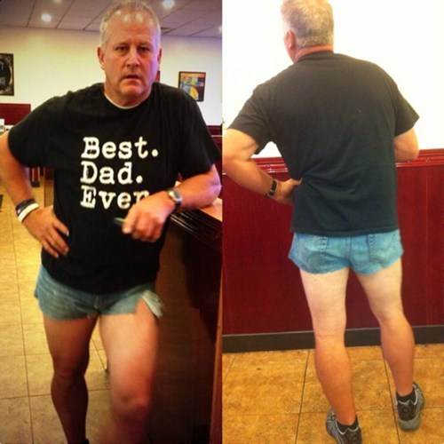 Well That's Awkward of the Day: Father Wears Daisy Dukes to Shame Daughter