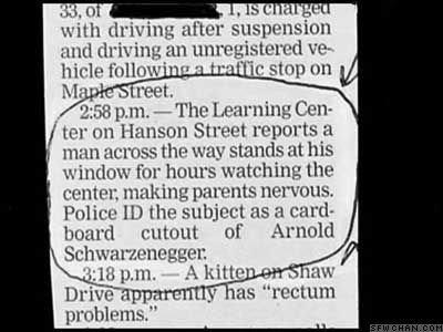 news facepalm Arnold Schwarzenegger funny newspaper - 7795956992