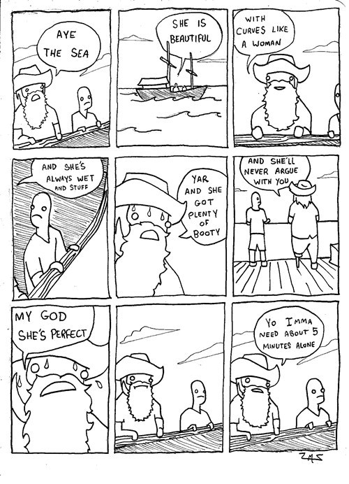 sailing the sea pirates comic funny - 7795957760