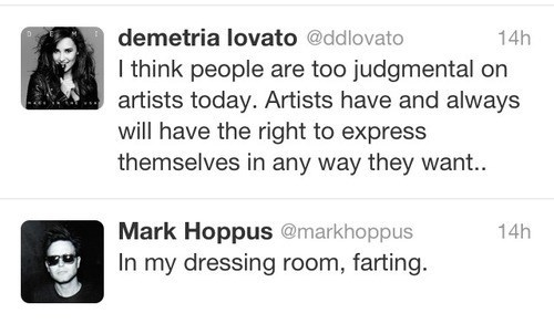 demi lovato,judging,mark hoppus,failbook,g rated