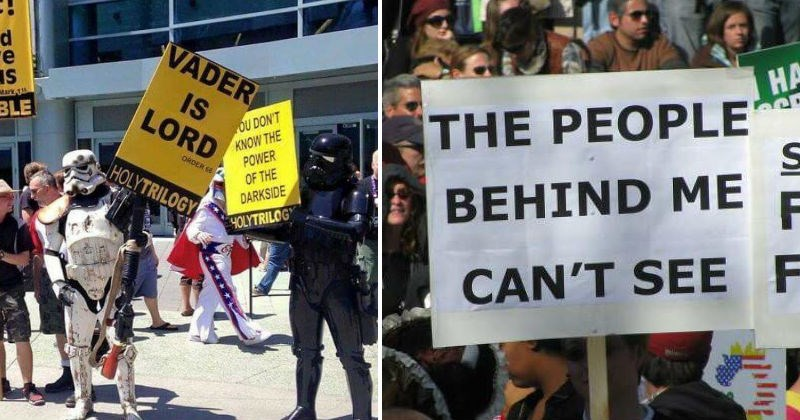 Protest signs protesters lol rights funny funny signs rally - 7795973