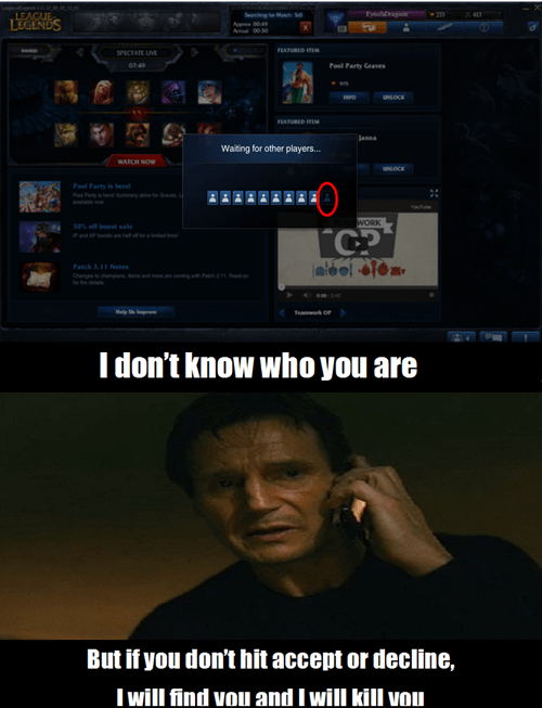 taken,afk,league of legends