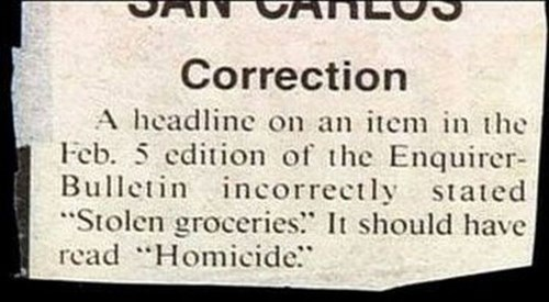 whoops,editor,funny,newspaper