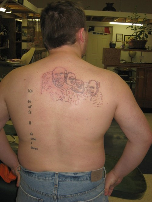 wtf,tattoos,funny,Mount Rushmore