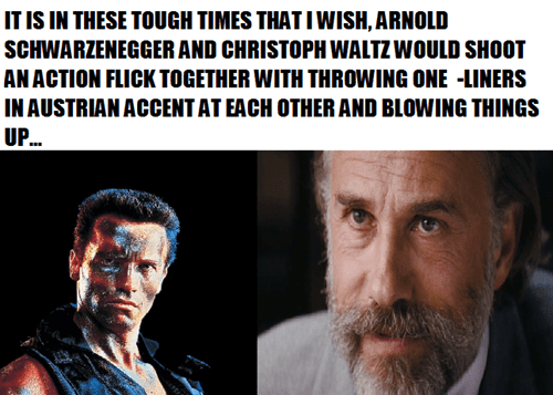 Arnold Schwarzenegger,action movie,christoph waltz