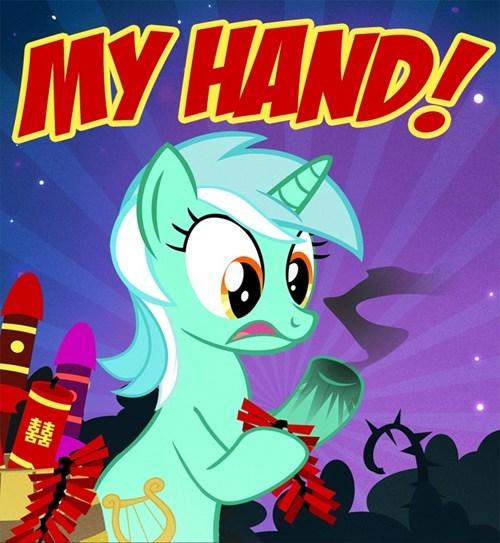 lyra,hoofs,hands