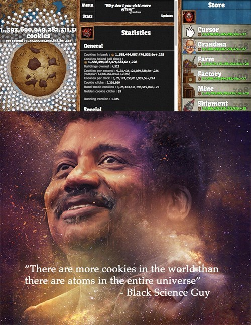 cookie clicker not real guise Neil deGrasse Tyson - 7797554432