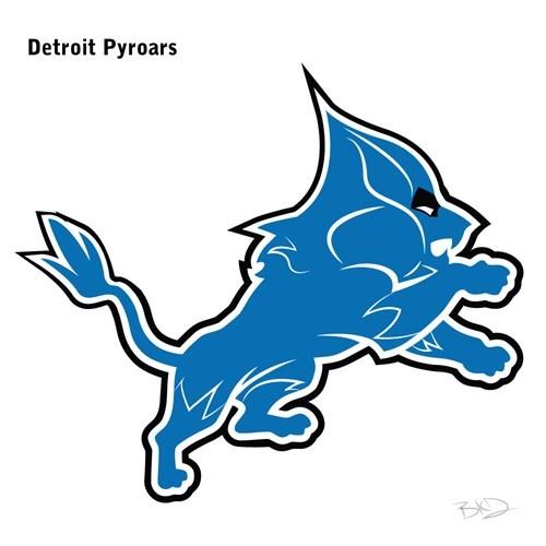 Line art - Detroit Pyroars