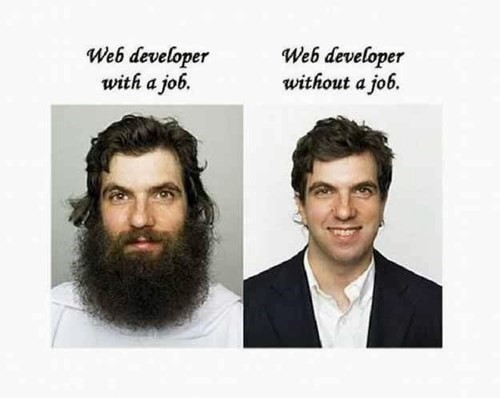 web developers,beards