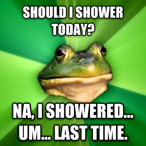 Memes,bachelor frog,showers