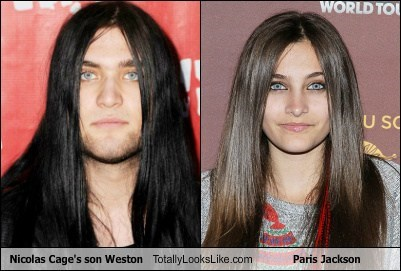 paris jackson,totally looks like,nic cage,funny,weston cage