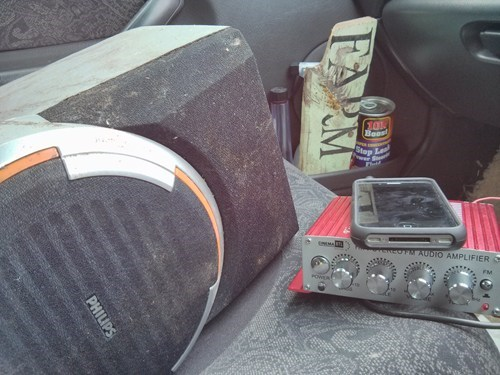 speakers,cars,funny,there I fixed it