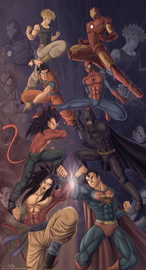 dragonball gt marvel DC Dragon Ball Z cartoons superheroes - 7798979072