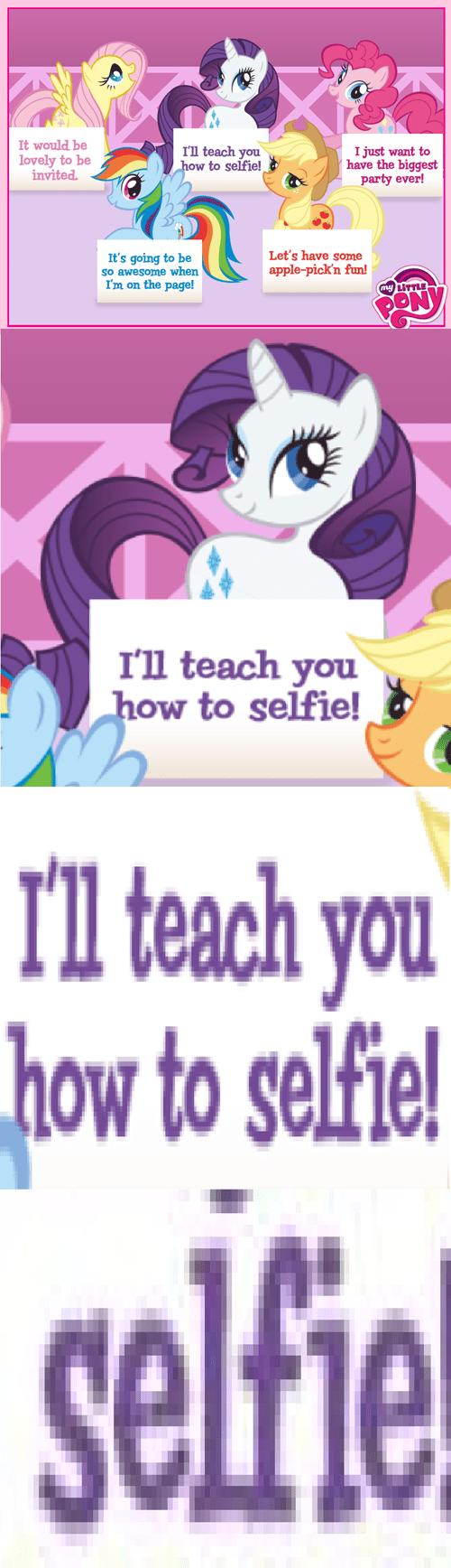 mane 6 rarity selfie - 7799027456